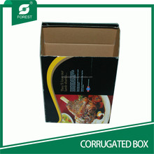 DISPOSABLE NEW DESIGN CORRUGATED BOX ROR TAKE AWAY FOOD PACKAGING WITH SMALL WINDOWN