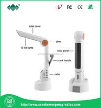 Fashion solar LED light table lamp/radio/LED Torch function solar led