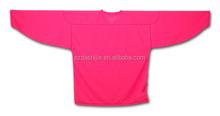OEM Service Custom Sublimation Ice Hockey ,Fashionable Plain Pink Ice Hockey Jersey,best selling ice hockey clothing