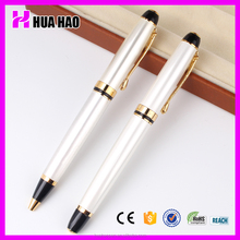 White barrel metal ball pen,gift pen set
