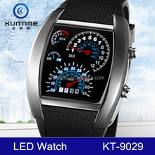 2014 Vogue Mens Pilot Wristwatch Rubber Band LED Digital Watch(Assorted Colors)