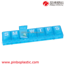 pill case with date letters,Hot Sale medicine box,Plastic 7 Days Pill Box
