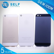 Hot selling 3 colors replacement parts for iphone 5 back cover housing