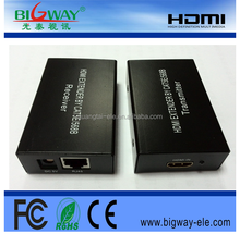 HDMI Extender Ethernet with and over CAT5 CAT6 Converter 1080P 3D