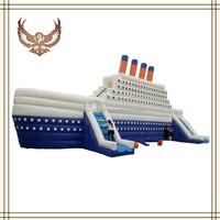 inflatable luxurious Cruise slide,titanic inflatable slide,inflatable water slides