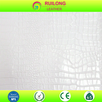 2015 new crocodile Alligator PVC leather fabric for women bag