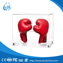 acrylic Display Case for a Pair of Boxing Gloves with a Modern Clear Base