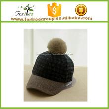 children wool felt equestrian cap hat with pompom on top