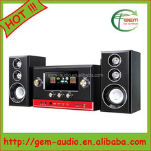 cheapest 2.1 multimedia speaker,net cloth wooden speaker ,best for promotion Gem-90015
