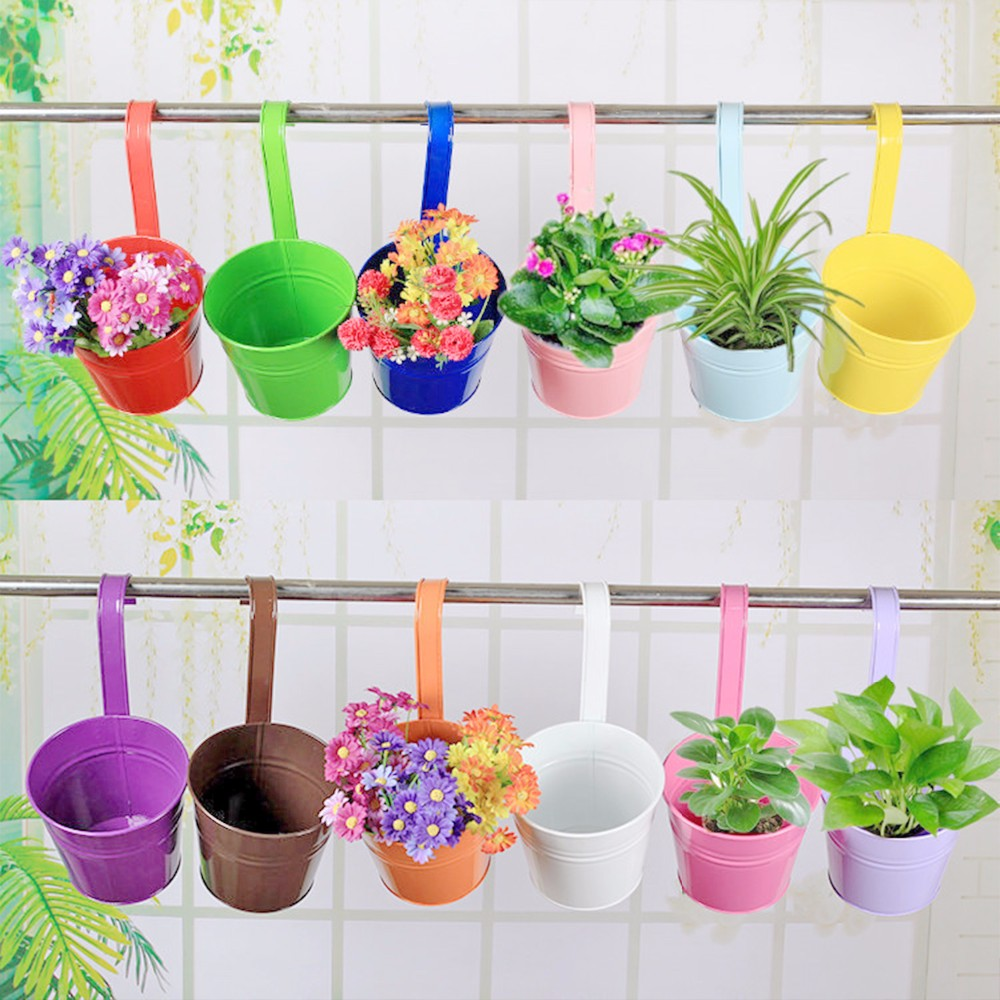Aliexpress.com : buy 10 colors fashion metal iron flower pot.