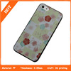flower pattern For iPhone 5 5s Black Case Cover
