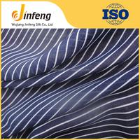 blue white stripe printing spun polyester cotton feel fabric