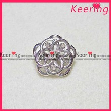 2014 New flower button with crystal rhinestone for garments /cloth decoration for women WBK-386