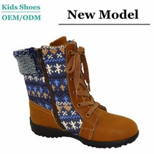 J-T0093 New style designer boots shoes knitting and real leather upper Russia winter brown nubuck leather boots