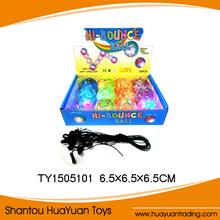 12 pcs kids toy 6.5cm colorful flashing crystal ball