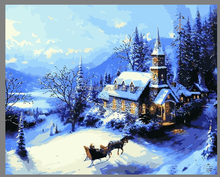 2015 Christmas canvas painting For Wall Decoration with EN-71,ASTM,SGS 40x50