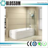 Easy install bathroom portable glass bath shower screens