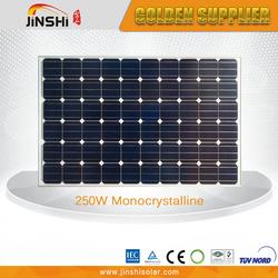 Top Quality Competitive Price 250 Watt Photovoltaic Solar Panel Monocrystalline