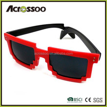 Custom logo pixel sunglasses 8 bit sunglasses Made in china
