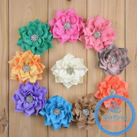 Handmade headband with fabric flower for party/brthday supplie