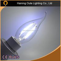 2015 hot sale c35 led filament bulb,2W 4W 6W high quality led filament lamp,E27 E14 B22 led filament bulb light