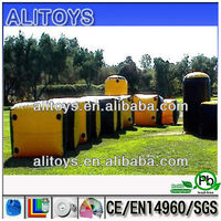2014 shopping rush indoor&outdoor inflatable paintball equipment playground