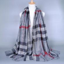 2015 Women Summer New Design Shawls Striped Floral Print scarves women fashion muslim100% viscose 180*90 10pcs/lot