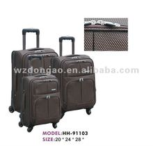 2012 newest 1680D ployester black Business trolley luggage