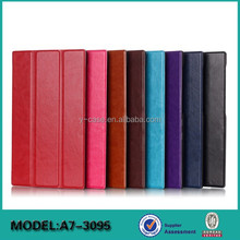 Hot selling leather flip case for Lenovo Tab 2 A7-30 7 inch tablet leather case