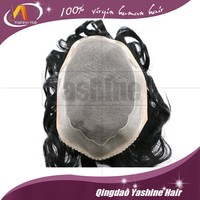 Wholesale cheap human hair piece natural men toupee alibaba express china Indian hair wig remy hair toupee for men