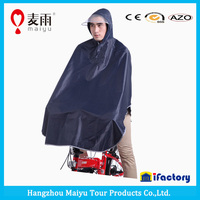 Maiyu pvc raincoat for moutain bicycle with hood