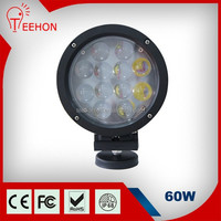 60W super bright auto led light, 4x4 auxiliary led off road light, heavy duty 12v led work light with 4D lens