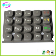 Silicone keypad keyboard for game machine