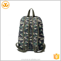 Custom casual urban outdoor sport canvas backpack army green