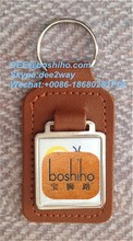 Boshiho personalised hotel guest house Leather Key Holder Ring Chain Fob