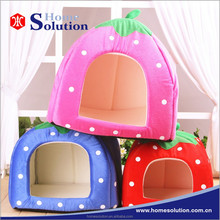 Strawberry shaped cute pet bed for dogs,dog houses luxury design