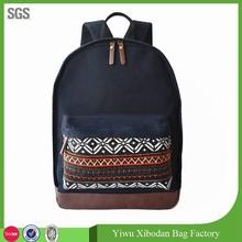 printing women's bag canvas backpack bag for ladies