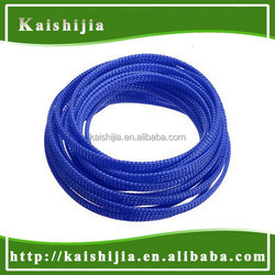 10mm PET high density Expandable Braided Blue Cable Protection Sleeving