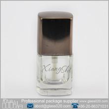 mini clear nail polish bottle square shape