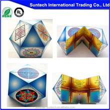 Promotional plastic diamond foldable puzzle cube with customized logo
