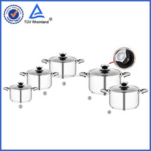 Cheaper with best quality OEM 304 material cookware impacted 3 layers looks like chicken casserole