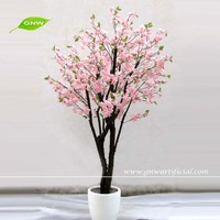 BLS031 GNW pink artificial cherry bonsai plants chinese suppliers wholesale for wedding decoration