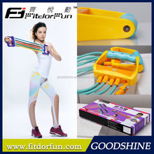 Feva Expander-Customized Classical High Impact ABS Handle Removable Rubber Crossfit Equipment Resistance Band Maker