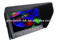 """1024x 600 Camera Mount 7"""" LCD Screen Stand with Hot Shoe Mount"""