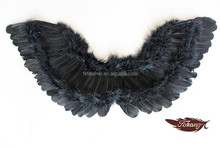 hot sale black feather angel wings