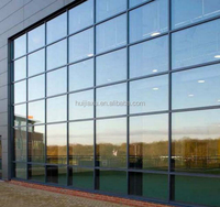 China Manufacturer Aluminum profile Glass offic glass partition wall Curtain Wall price