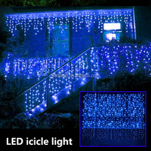 For holiday outdoor use christmas icicle hanging light