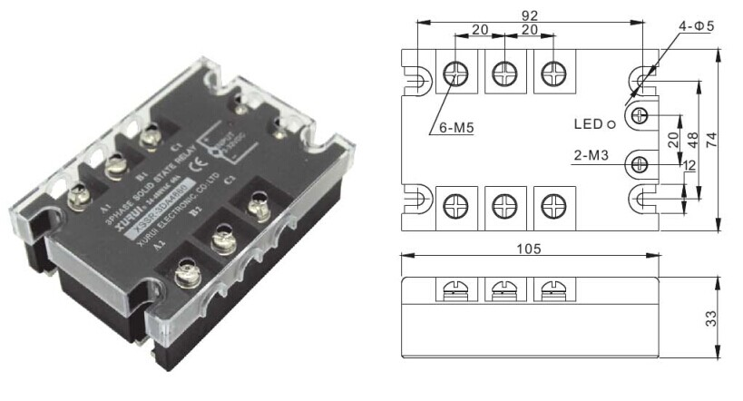 3 phase ac solid state relay manuf    three phase voltage