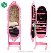 Large Standing Floor Mirror Over the Door Jewelry Armoire Storage Organizers