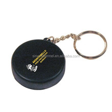 New Design Popular Unique Novelty Hockey Puck Key Ring